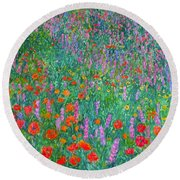 Wildflower Current Round Beach Towel