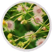 Wildflower Round Beach Towel