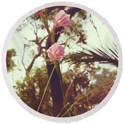 Wildflower I Round Beach Towel