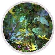 Wildflower Impression 4859 Idp_2 Round Beach Towel