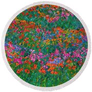 Wildflower Magic Round Beach Towel