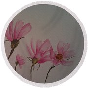 Wildflower Pink Round Beach Towel by Ginny Youngblood