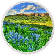 Wildflower Wonder Round Beach Towel