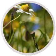 Wildflowers 1 Round Beach Towel