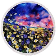 Wildflowers 67 Round Beach Towel