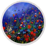 Wildflowers 78 Round Beach Towel