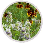 Wildflowers Seven Round Beach Towel