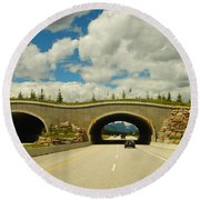 Wildlife Crossing Round Beach Towel