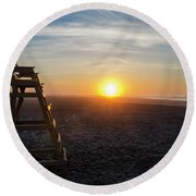 Wildwood New Jersey - Peaceful Morning Round Beach Towel