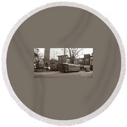 Wilkes Barre Pa Public Square Oct 1940 Round Beach Towel