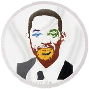 Will Smith Round Beach Towel
