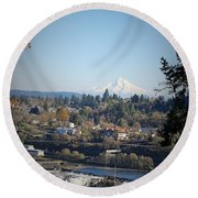 Willamette Falls 2 Round Beach Towel