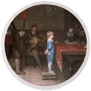 William Frederick Yeames - And When Did You Last See Your Father 1878 Round Beach Towel