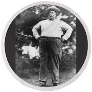 William Howard Taft Round Beach Towel