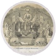 William IIi King Of The Netherlands Round Beach Towel