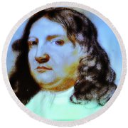 William Penn Portrait Round Beach Towel