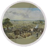 William Simpson, 1823-1899, Nilitary Camp Round Beach Towel