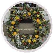Williamsburg Wreath 18 Round Beach Towel