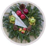 Williamsburg Wreath 87 Round Beach Towel
