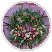 Williamsburg Wreath 92 Round Beach Towel