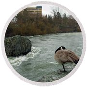 Willie Willey Rock - Riverfront Park - Spokane Round Beach Towel