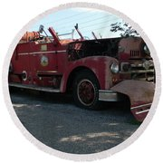 Willig Collection 6 Fire Truck Round Beach Towel