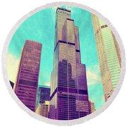 Willis Tower - Chicago Round Beach Towel