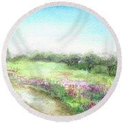 Willow-herb Round Beach Towel