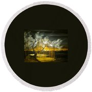 Willow On The Shore Round Beach Towel