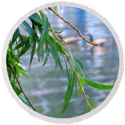Willow Over The Water Round Beach Towel