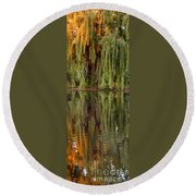 Willow Reflection Round Beach Towel