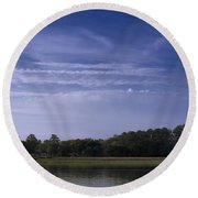 Wilmington River Savannah Morning Round Beach Towel