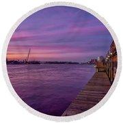 Wilmington Waterfront Round Beach Towel