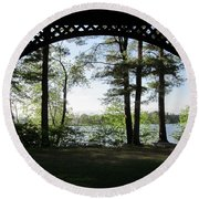 Wilson Pond Framed Round Beach Towel