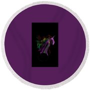 Wilted Tulips Round Beach Towel