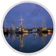 Winchester Bay Reflections Round Beach Towel