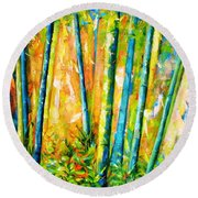 Wind And Fire Round Beach Towel