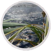 Wind And Water Round Beach Towel