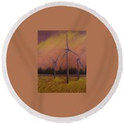 Wind And Wheat Round Beach Towel