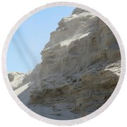 Wind Blowing Across The Desert Round Beach Towel