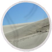Wind Blowing Across The Desert Nature Landscape Round Beach Towel