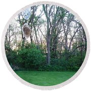 Wind Chimes Round Beach Towel