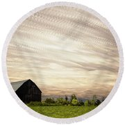 Wind Farm Round Beach Towel by Matt Molloy