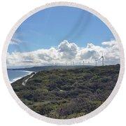 Wind Farm Round Beach Towel