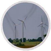 Wind Generators Round Beach Towel