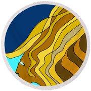 Wind Goddess Round Beach Towel