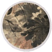 Wind In The Lotus Round Beach Towel