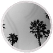 Wind In The Palms- By Linda Woods Round Beach Towel