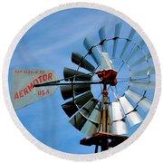 Wind Mill Pump In Usa 2 Round Beach Towel