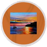 Wind Of Hope Round Beach Towel